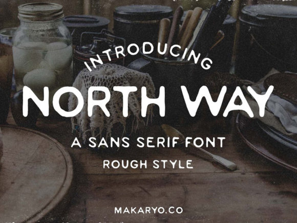 Print on Demand: Northway Display Font By Makaryo Collective