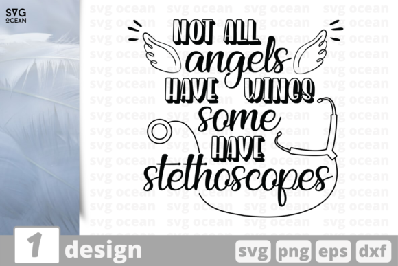 Download Free Not Angels Have Wings Quote Graphic By Svgocean Creative Fabrica for Cricut Explore, Silhouette and other cutting machines.
