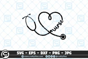 Download Free Nurse Stechoscope Graphic By Crafty Files Creative Fabrica for Cricut Explore, Silhouette and other cutting machines.