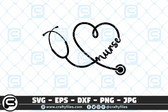 Nurse Stechoscope   Graphic Crafts By Crafty Files
