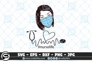Download Free Nurse Head With Medical Mask Graphic By Crafty Files Creative for Cricut Explore, Silhouette and other cutting machines.