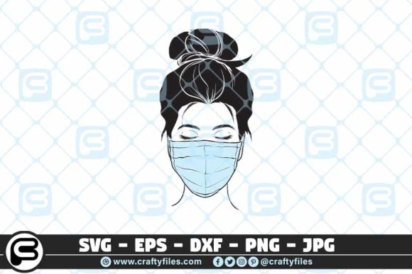 Download Free Nurse Head With Stethoscope Graphic By Crafty Files Creative for Cricut Explore, Silhouette and other cutting machines.
