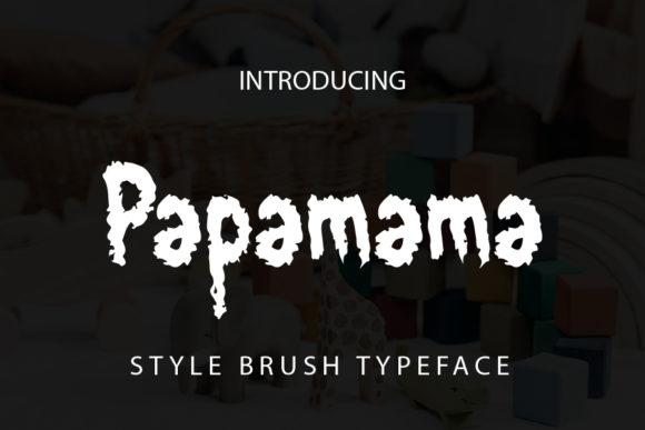 Print on Demand: Papamama Display Font By mizanstudio