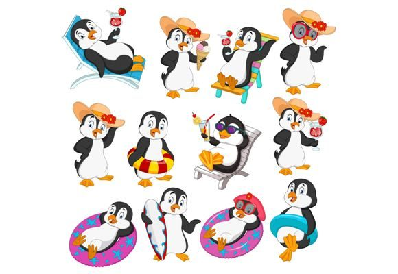 Penguin ClipArt Set Graphic Graphic Illustrations By tigatelusiji