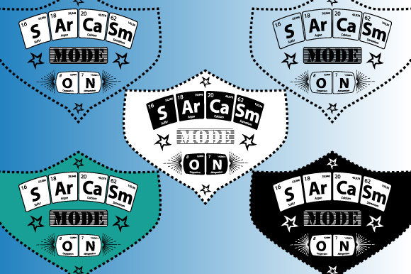Print on Demand: Periodic Table Sarcasm Mode on Vector Graphic Illustrations By GraphicsFarm