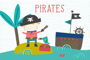 Print on Demand: Pirates Clipart Graphic Illustrations By poppymoondesign