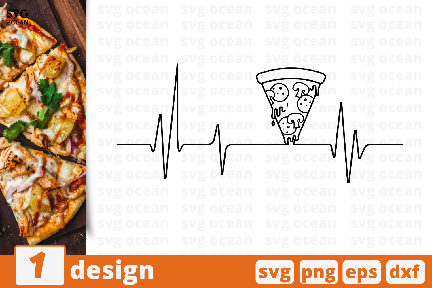 Download Free Pizza Heart Graphic By Svgocean Creative Fabrica SVG Cut Files