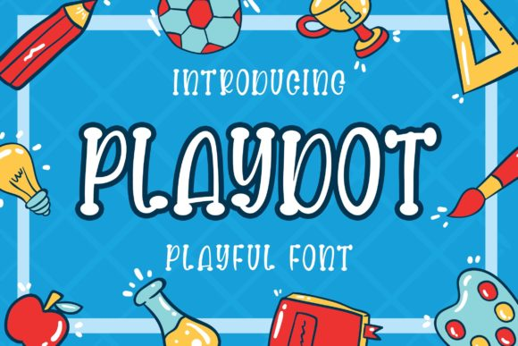 Print on Demand: Playdot Display Font By Blankids Studio