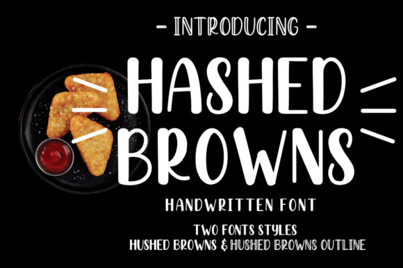 Print on Demand: Hashed Browns Script & Handwritten Font By Manjalistudio