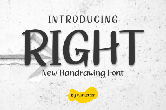 Print on Demand: Right Display Font By twinletter