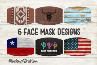 Print on Demand: Southern Face Mask Designs Bundle   Graphic Patterns By Mockup Station