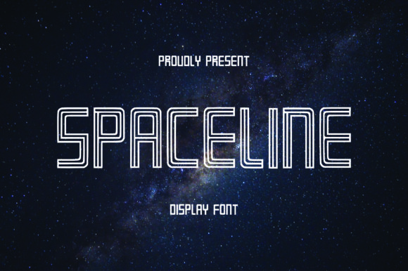 Print on Demand: Spaceline Display Font By Randoezim