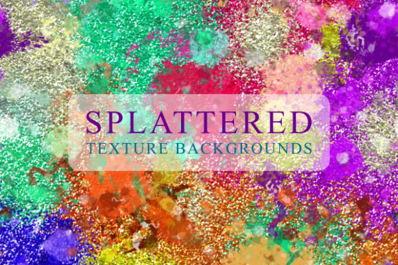 Print on Demand: Splattered Grunge Paint Texture Papers Gráfico Texturas Por Prawny