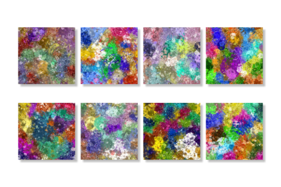 Print on Demand: Splattered Grunge Paint Texture Papers Graphic Textures By Prawny - Image 5