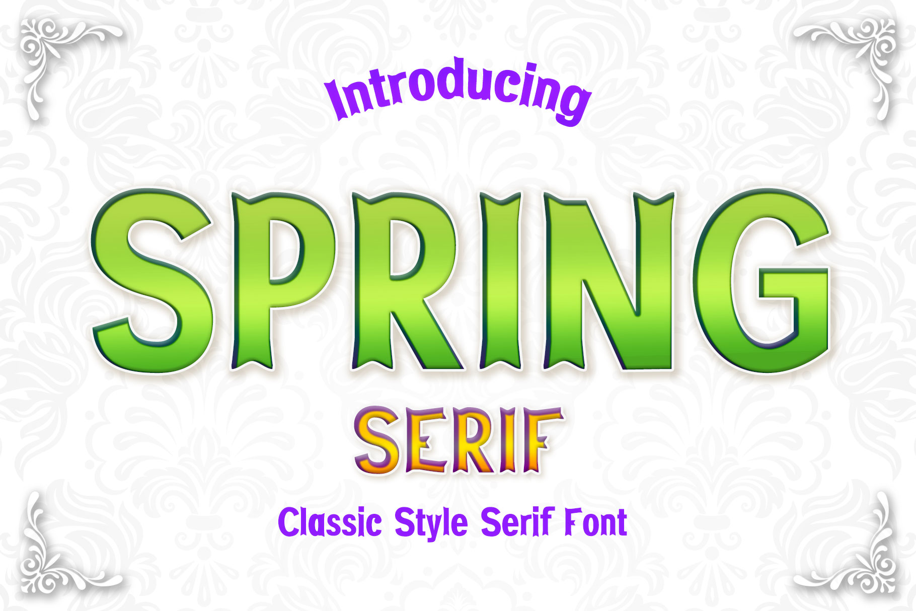 Download Free Spring Font By Numnim Creative Fabrica for Cricut Explore, Silhouette and other cutting machines.