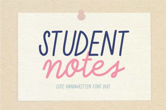Print on Demand: Student Notes Script & Handwritten Font By AquariiD