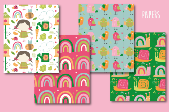 Print on Demand: Summer Fun Papers Graphic Patterns By poppymoondesign - Image 2