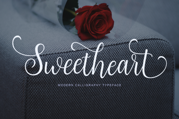 Print on Demand: Sweetheart Script & Handwritten Font By Unicode Studio - Image 1