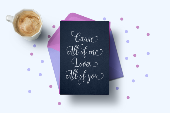 Print on Demand: Sweetheart Script & Handwritten Font By Unicode Studio - Image 6