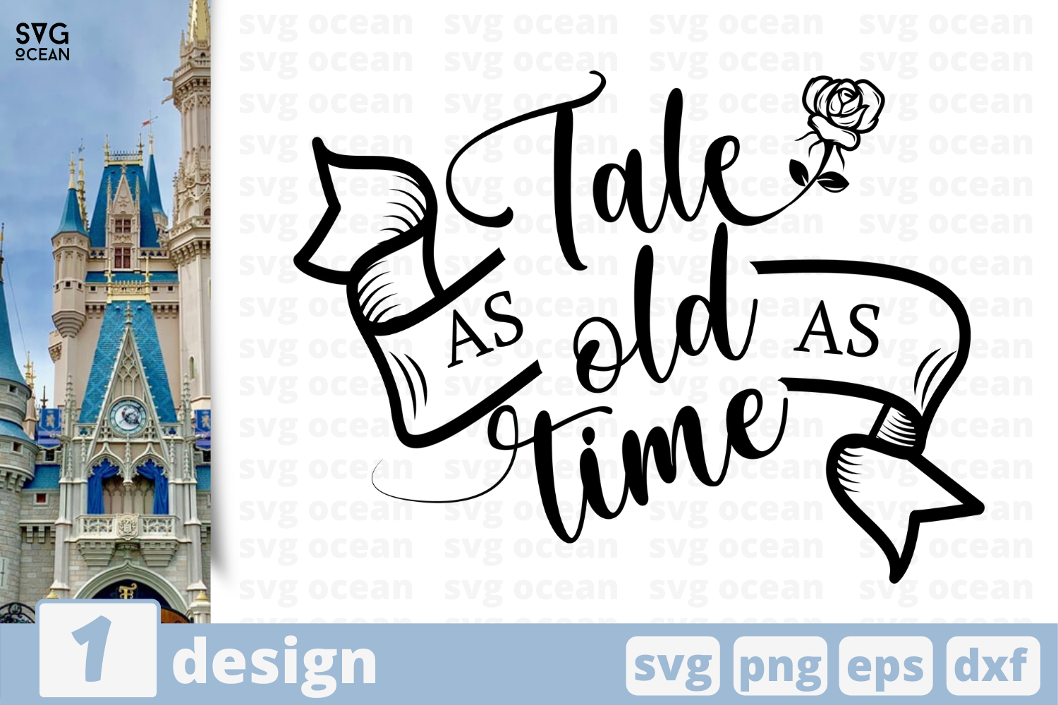Download Free Tale As Old As Time Graphic By Svgocean Creative Fabrica for Cricut Explore, Silhouette and other cutting machines.
