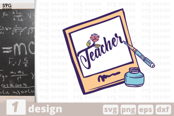 Download Free Teacher Graphic By Svgocean Creative Fabrica for Cricut Explore, Silhouette and other cutting machines.