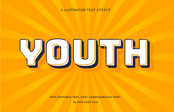 Text Effect - Youth Style Graphic Add-ons By aalfndi