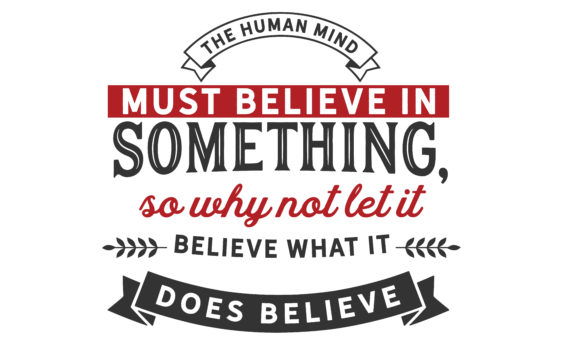 Print on Demand: The Human Mind Must Believe in Something Graphic Illustrations By baraeiji