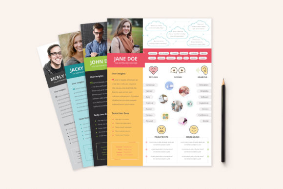 Print on Demand: UX Workflow - Empathy Map Graphic Print Templates By sargatal