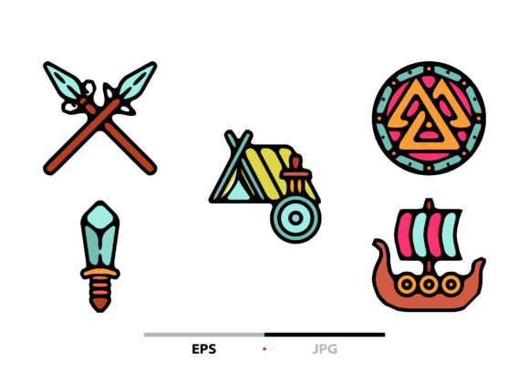 Viking Abstract Graphic Icons By sayangnadyapkm3
