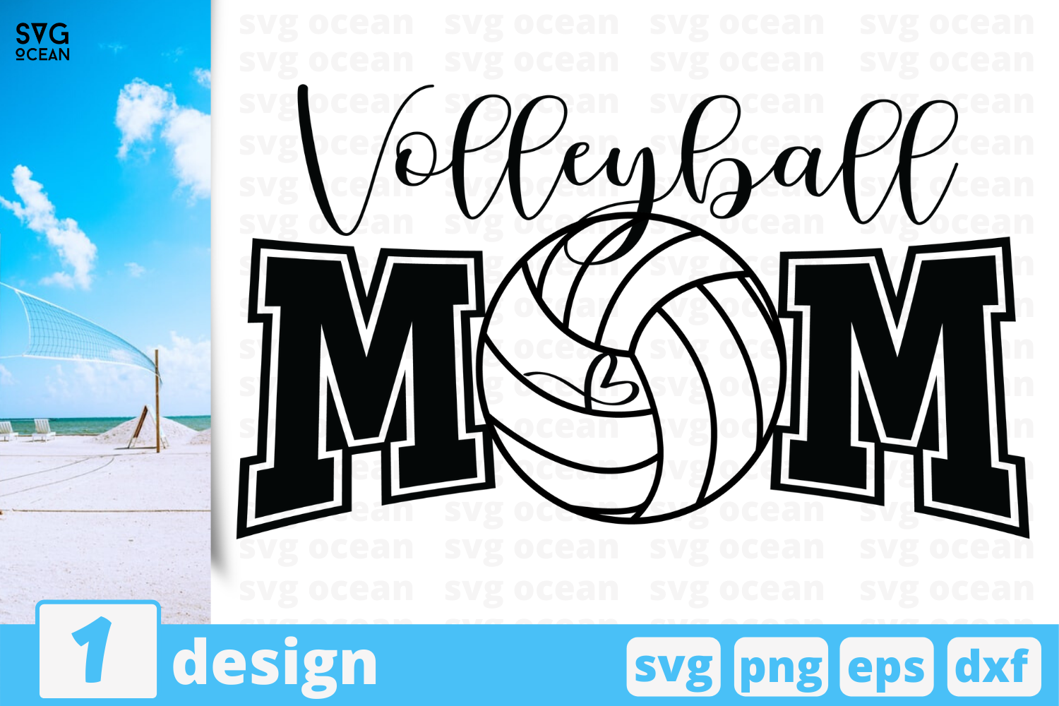 Download Free Volleyball Mom Graphic By Svgocean Creative Fabrica for Cricut Explore, Silhouette and other cutting machines.