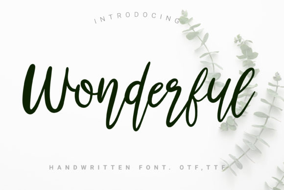 Download Free Wonderful Font By Artdee2554 Creative Fabrica for Cricut Explore, Silhouette and other cutting machines.