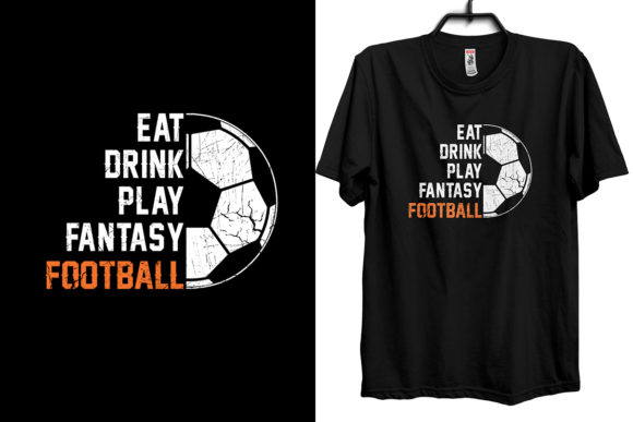 Download Free Eat Drink Play Fantasy Football Gaming Graphic By Storm Brain for Cricut Explore, Silhouette and other cutting machines.