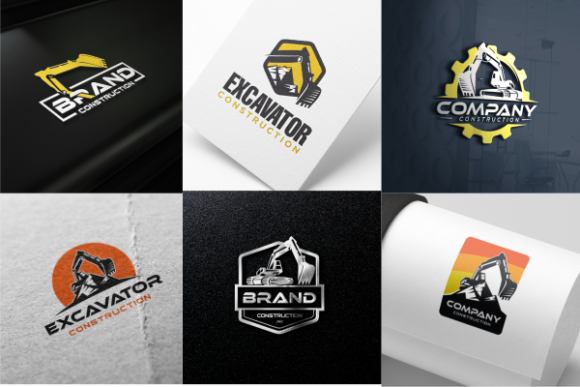 Excavator & Backhoe Logo Template Vector Graphic Logos By blueberry 99d