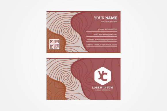 Download Free Geography Contour Business Card Graphic By Noory Shopper for Cricut Explore, Silhouette and other cutting machines.