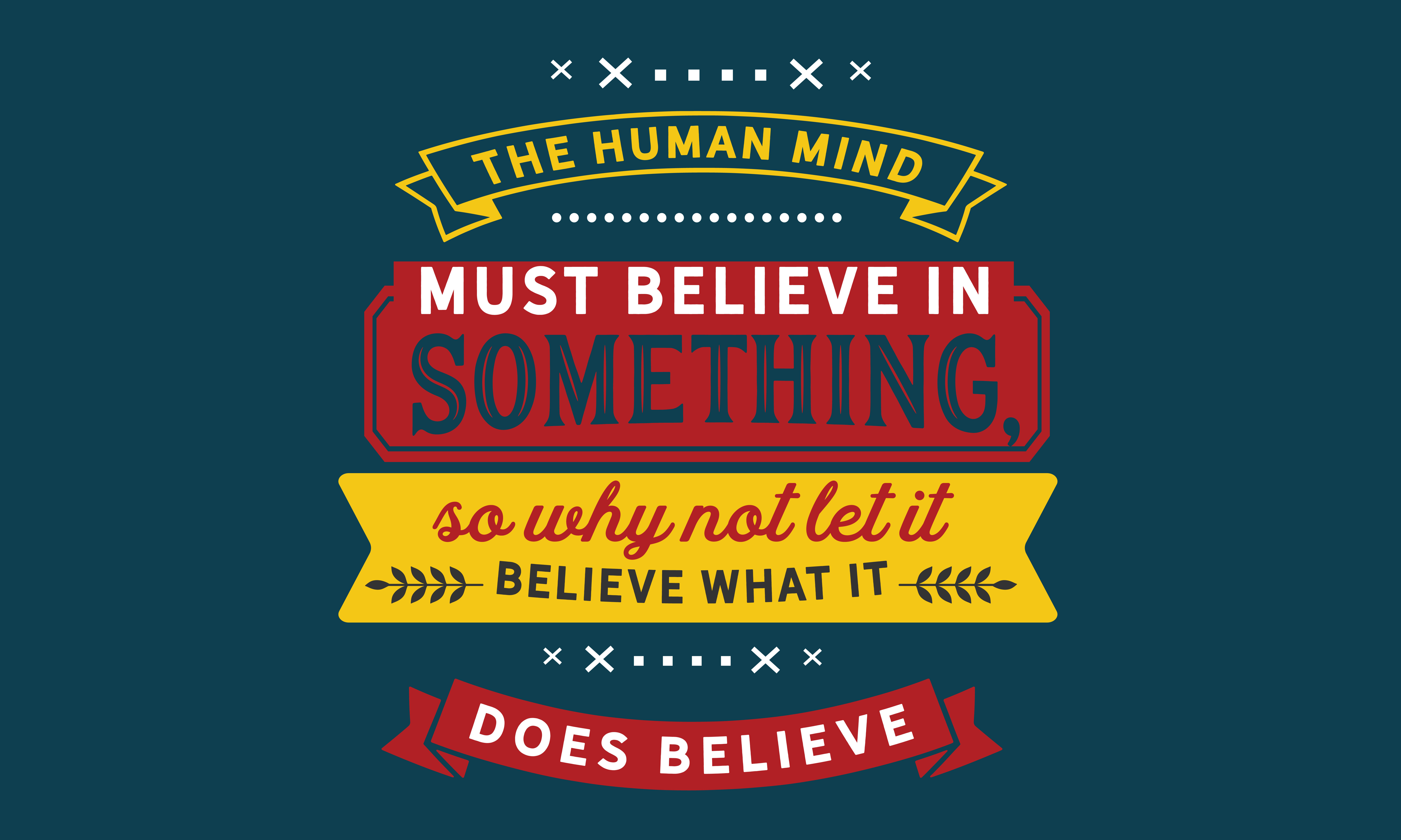 Download Free Let It Believe What It Does Believe Graphic By Baraeiji for Cricut Explore, Silhouette and other cutting machines.