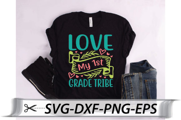 Download Free Love My 1st Grade Tribe Quote Graphic By Svg Store Creative for Cricut Explore, Silhouette and other cutting machines.