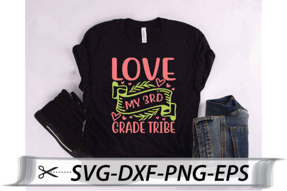 Download Free Love My 3rd Grade Tribe Quote Graphic By Svg Store Creative for Cricut Explore, Silhouette and other cutting machines.