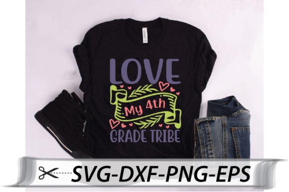 Download Free Love My 4th Grade Tribe Quote Graphic By Svg Store Creative for Cricut Explore, Silhouette and other cutting machines.