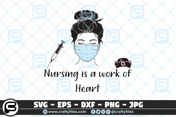 Nursing is a Work of the Heart Graphic Crafts By Crafty Files