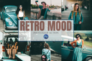 Print on Demand: 11 Retro Mood Photoshop Actions  Graphic Actions & Presets By 3Motional