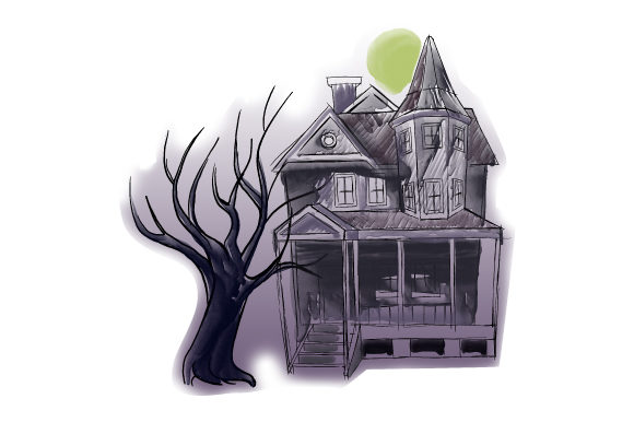 Haunted House Halloween Craft Cut File By Creative Fabrica Crafts