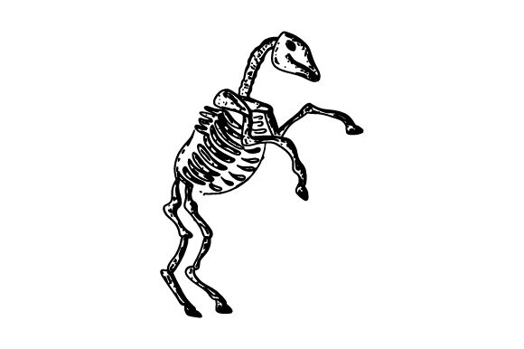 Horse Skeleton Halloween Craft Cut File By Creative Fabrica Crafts - Image 1