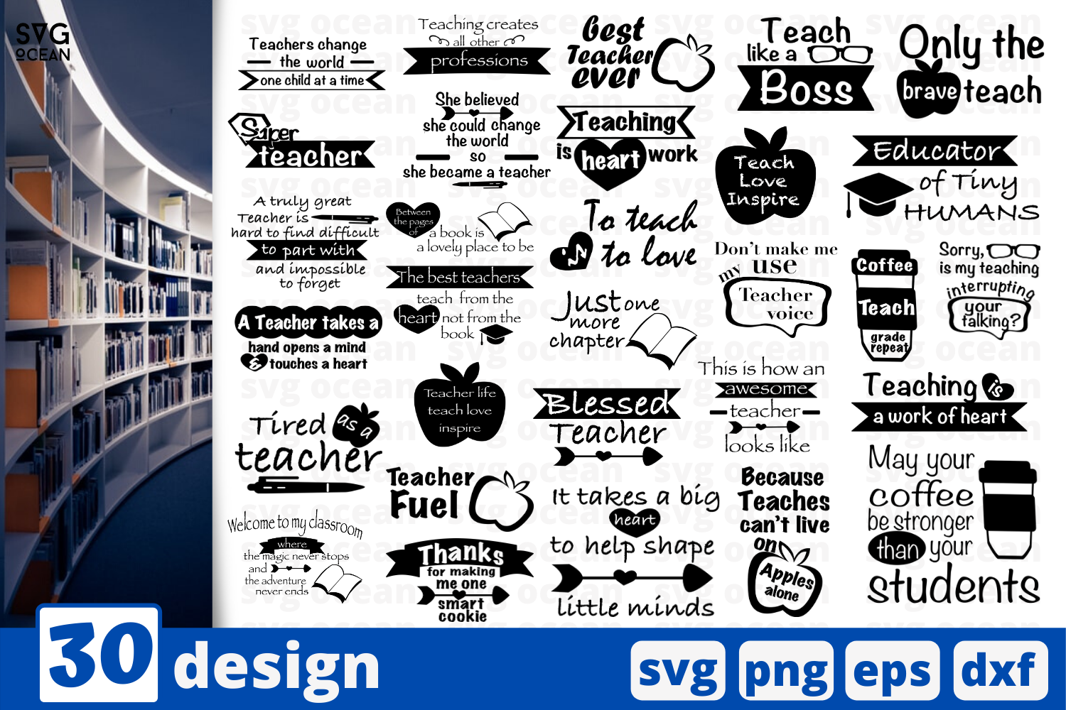 Download Free 30 Designs Teacher Quotes Graphic By Svgocean Creative Fabrica for Cricut Explore, Silhouette and other cutting machines.