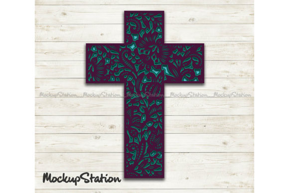 Download Free 3d Layered Cross Mandala Graphic By Mockup Station Creative for Cricut Explore, Silhouette and other cutting machines.