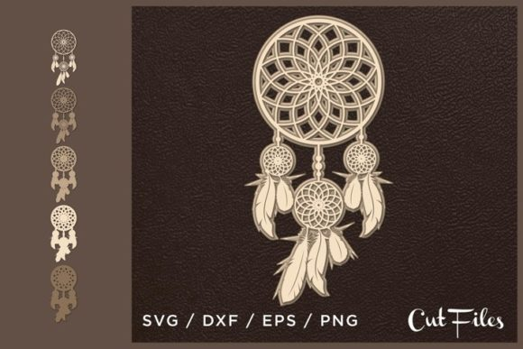3D Layered Dream Catcher Graphic Crafts By 2dooart