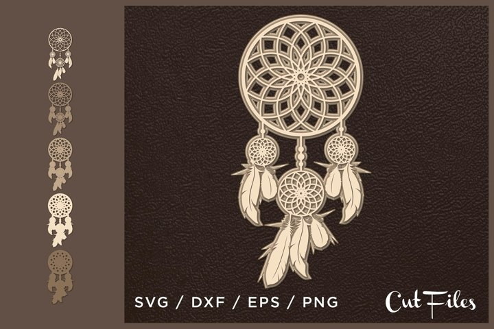 Download Free 3d Layered Dream Catcher Graphic By 2dooart Creative Fabrica for Cricut Explore, Silhouette and other cutting machines.