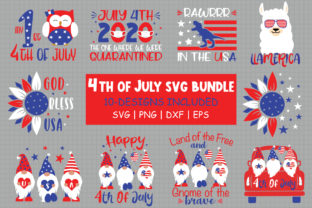 Print on Demand: 4th of July Bundle Graphic Crafts By All About Svg