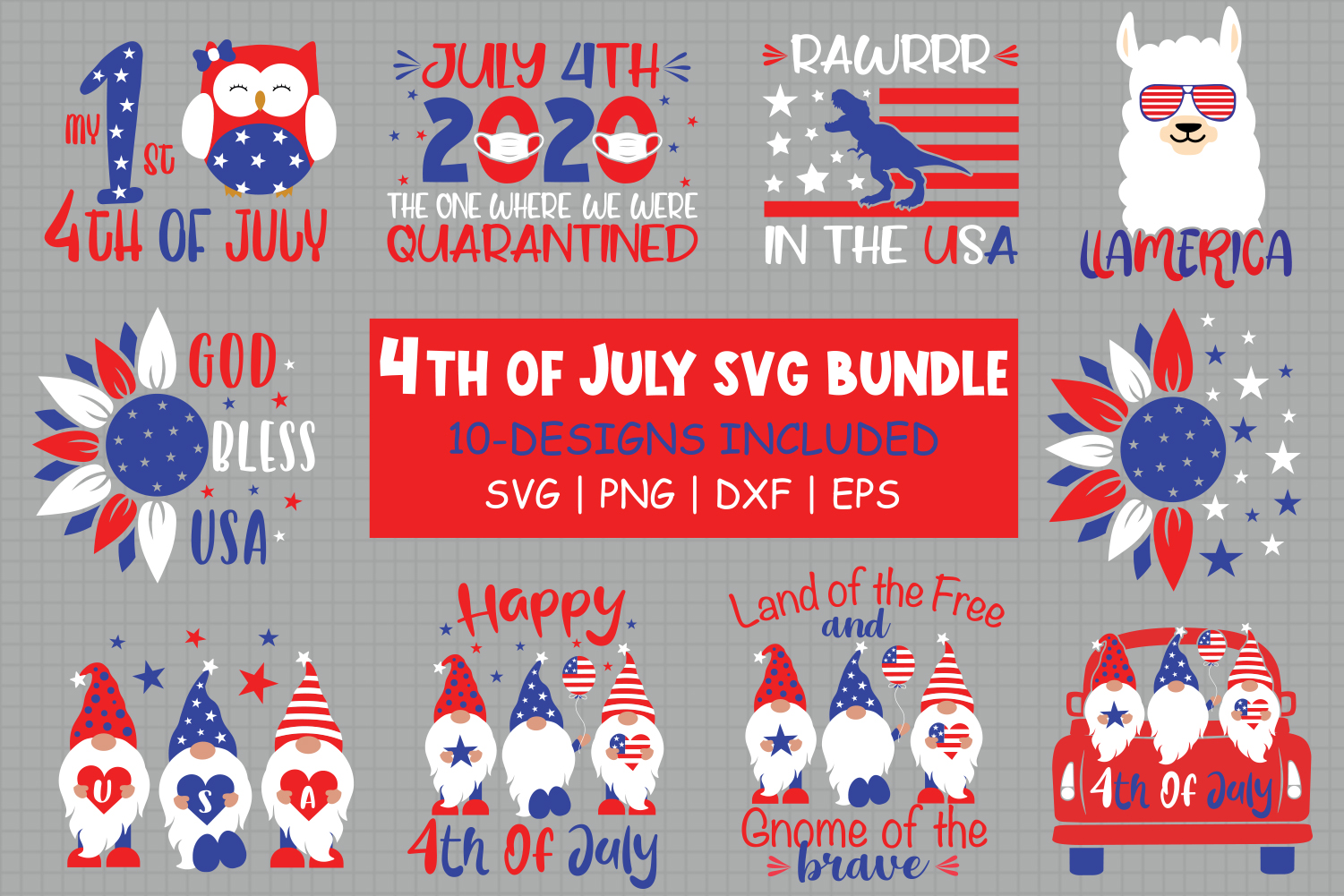 Download Free 4th Of July Bundle Graphic By All About Svg Creative Fabrica for Cricut Explore, Silhouette and other cutting machines.
