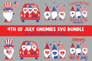 4th of July Gnomies Bundle Gráfico Crafts Por All About Svg