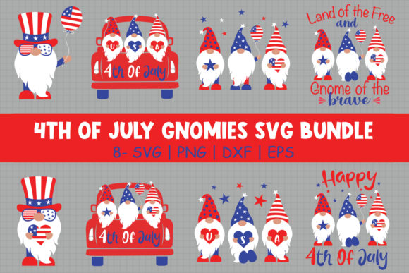 4th of July Gnomies Bundle   Graphic Crafts By All About Svg